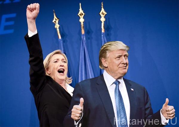 коллаж, Марин Ле Пен, Дональд Трамп|Фото: Накануне.RU