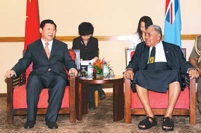 Председатель КНР и Президент Фиджи|Фото: yyf.wenming.cn