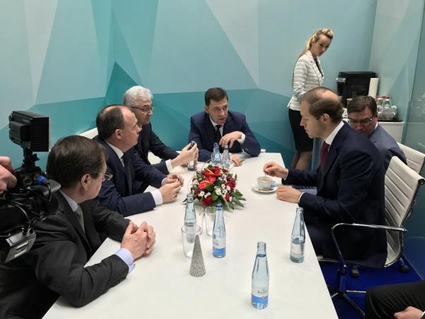 Евгений Куйвашев, Денис Мантуров|Фото: Департамент информационной политики губернатора СО