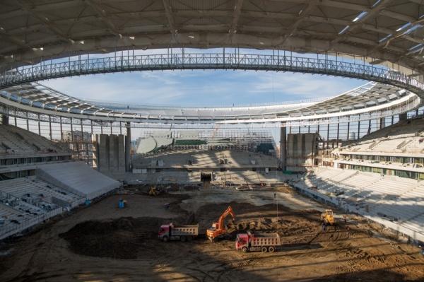 Центральный стадион, Екатеринбург-Арена, футбольное поле|Фото: Синара