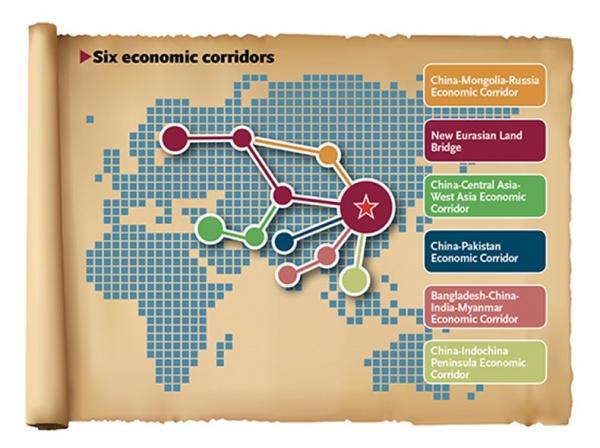 Китайская иконографика маршрутов Шёлкового пути Фото: globaltimes.cn