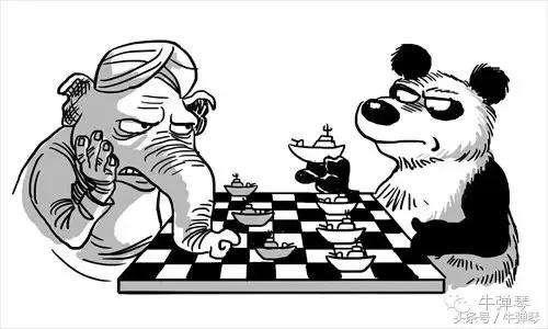Китайская карикатура о гонке вооружений с Индией Фото: news.yigouu.com