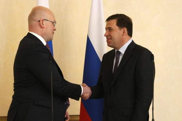 Евгений Куйвашев встреча с послом Финляндии|Фото: ДИП губернатора Свердловской области