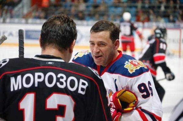 матч всех звезд, Евгений Куйвашев, Морозов, хоккей|Фото: департамент информационной политики губернатора Свердловской области