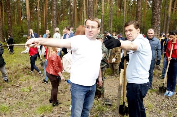 Лес Победы, Евгений Куйвашев, Всероссийский день посадки леса|Фото: департамент информационной политики губернатора Свердловской области