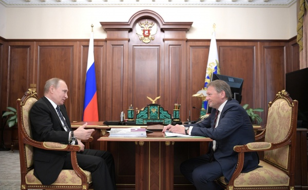 Владимир Путин, Борис Титов(2017)|Фото:http://kremlin.ru/