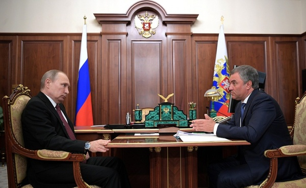 Владимир Путин, Вячеслав Володин|Фото: http://kremlin.ru