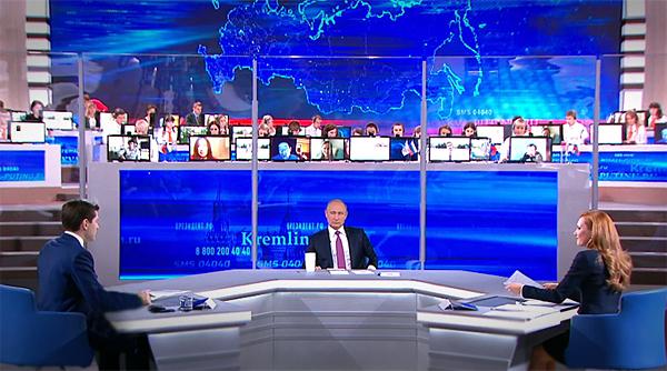 Прямая линия, Владимир Путин|Фото: RT