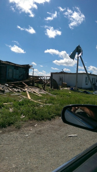 Малое Песьяное, Зауралье, ураган, крыши|Фото:vk.com