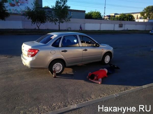 Курган, пьяный, ГИБДД, Гранта, Хлебокомбинат|Фото:Накануне.RU