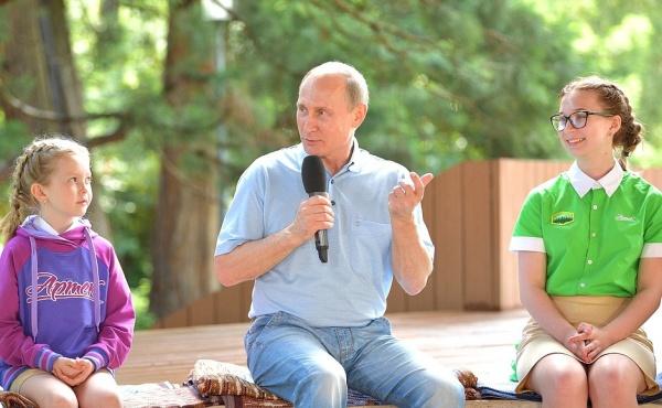 Владимир Путин в Артеке, Артек, детский лагерь|Фото: Пресс-служба Кремля