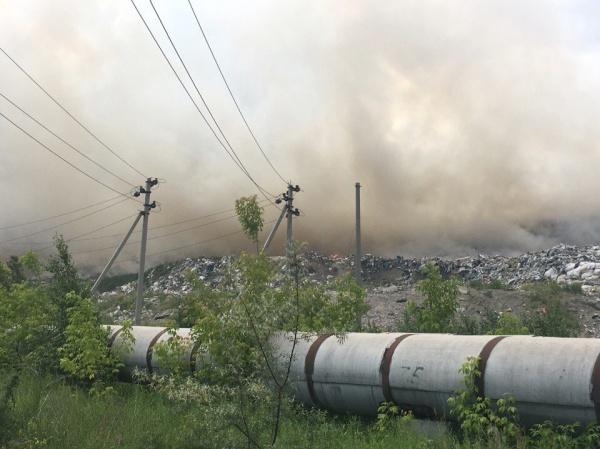 городская свалка, пожар, Челябинск,|Фото: БЭФ Моя планета