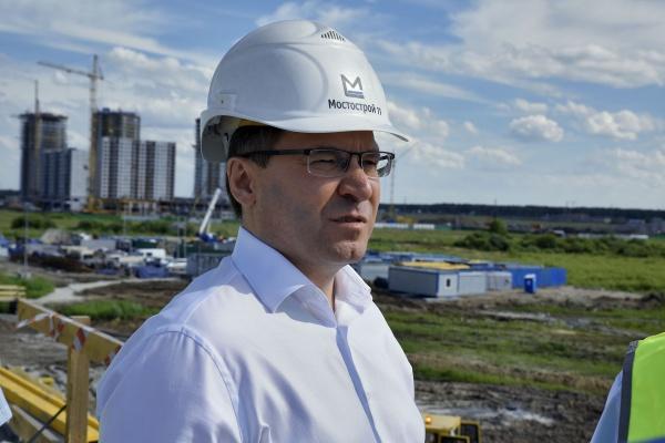 Владимир Якушев, инспектирование дорожных строек Тюмени|Фото: Правительство Тюменской области