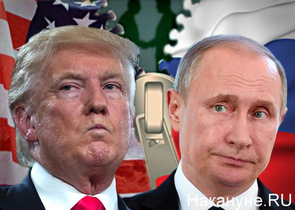 коллаж, Россия, США, Трамп, Путин, флаги, российско-американские отношения(2017)|Фото: Накануне.RU