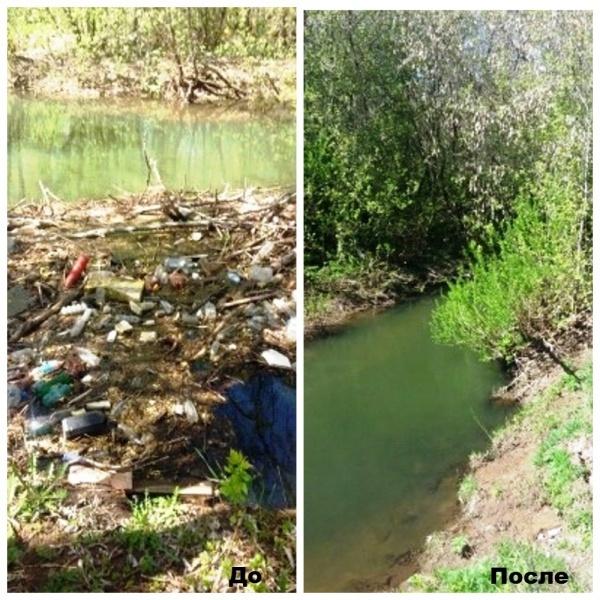 Очистка прибрежной зоны реки Мулянки|Фото: администрация Перми
