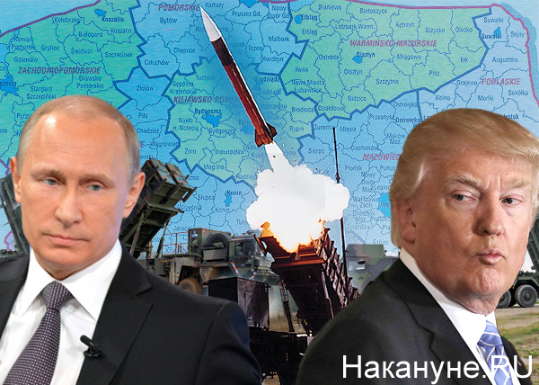 "коллаж, ЗРК ""Пэтриот"", Путин, Трамп, Польша|Фото: Накануне.RU"