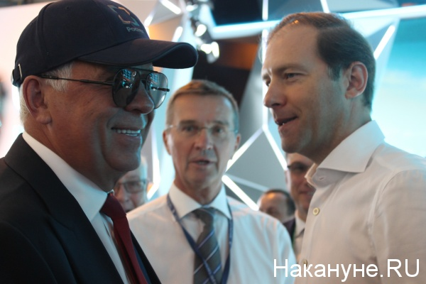 Сергей Чемезов, Денис Мантуров, МАКС-2017(2017)|Фото: Накануне.RU