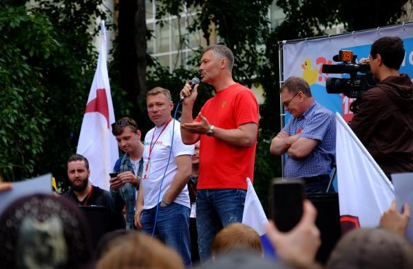 Евгений Ройзман, митинг Навального 12 июня 2017 г. Фото: rossaprimavera.ru, Владислав Фальшивомонетчик