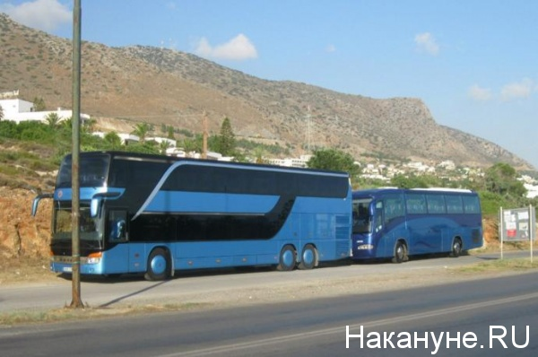 Греция автобусы горы туризм(2017)|Фото: Накануне.RU