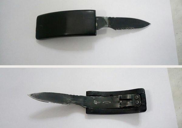 ремень нож оружие|Фото: УФССП по Свердловской области