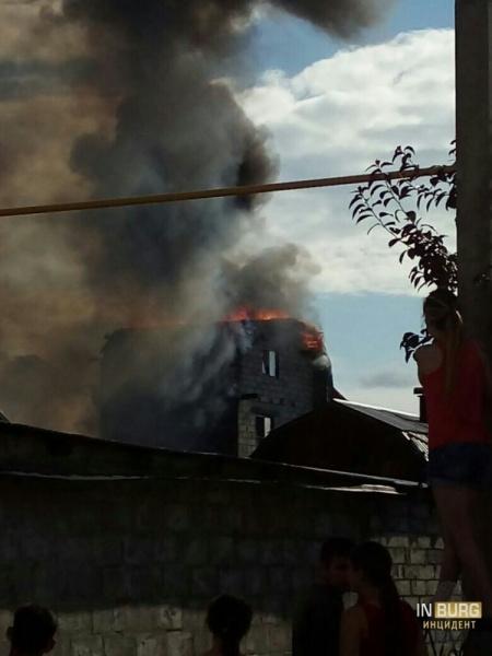 Пожар в Цыганском поселке|Фото: vk.com/incekb