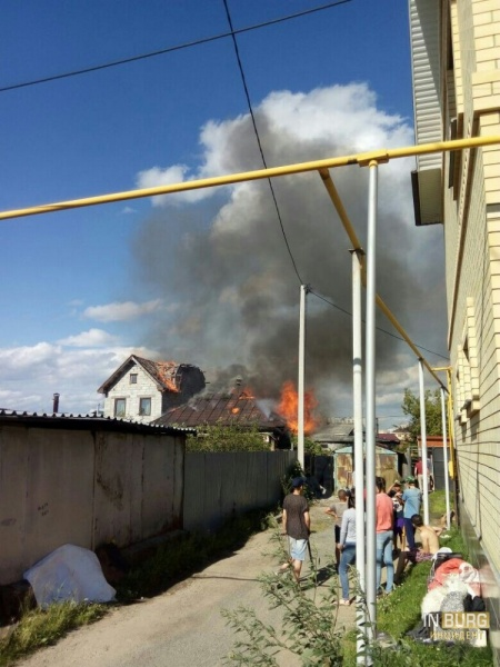 Пожар в Цыганском поселке|Фото:vk.com/incekb