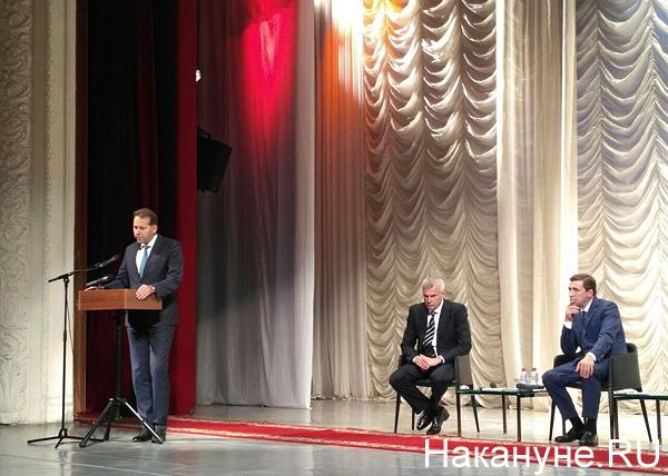 Нижний Тагил, директор УВЗ Александр Потапов, Сергей Носов, Евгений Куйвашев|Фото: Накануне.RU