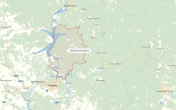 Добрянский район, карта|Фото: yandex.ru