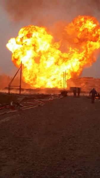 Пожар на Ван-Еганском месторождении|Фото: hmao.sledcom.ru