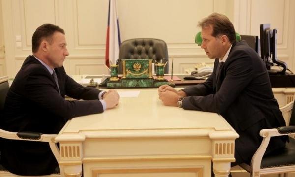 Игорь Холманских, Александр Потапов, встреча Фото:http://uralfo.gov.ru/