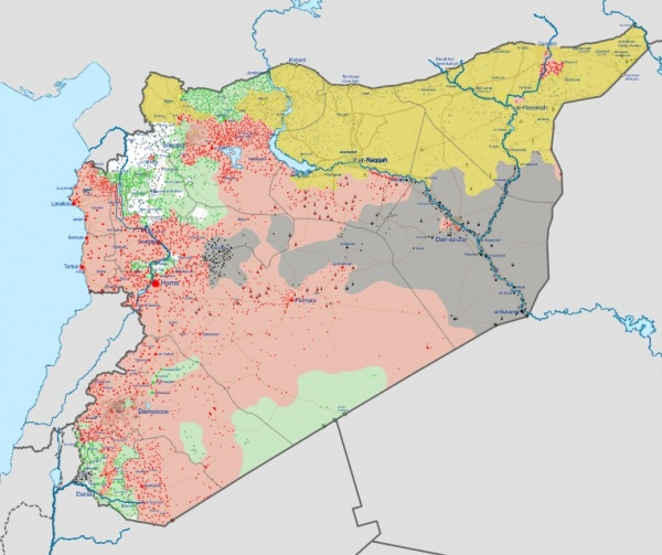 Сирия, война, карта, 17.08.2017|Фото: