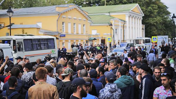 Москва, акция у посольства Мьянмы, мусульмане|Фото: Артем Сизов/«Газета.Ru»
