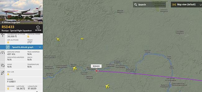 Самолет Путина, визит в Пермь|Фото: flightradar24.com