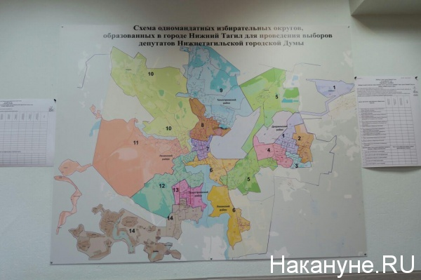 Схема одномандатных округов, Нижний Тагил|Фото: Накануне.RU