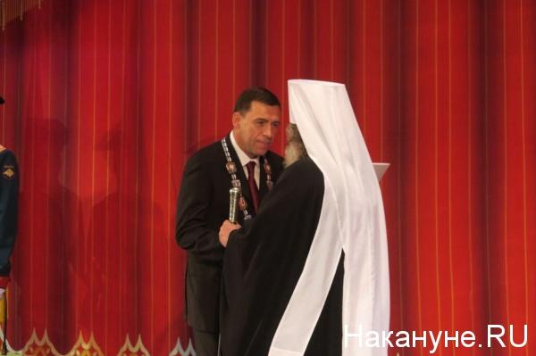 Евгений Куйвашев, митрополит Кирилл, инаугурация Фото: Накануне.RU