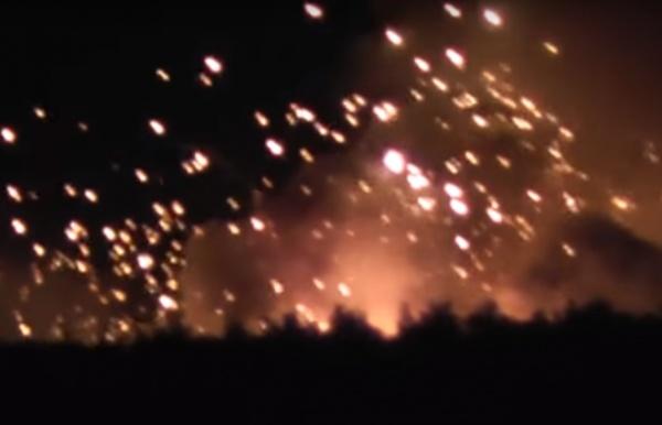 взрыв, склад боеприпасов, Калиновка, Винницкая область|Фото: youtube.com