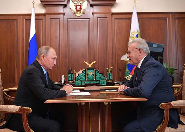 Владимир Путин, Александр Усс|Фото: kremlin.ru