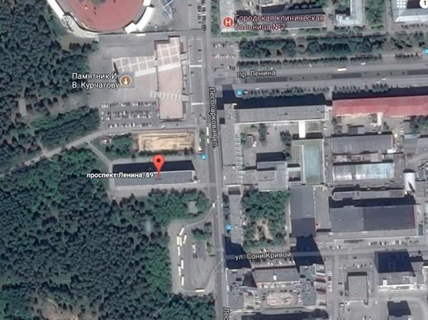 памятник Курчатову, проспект Ленина, 89, Челябинск|Фото: google.com
