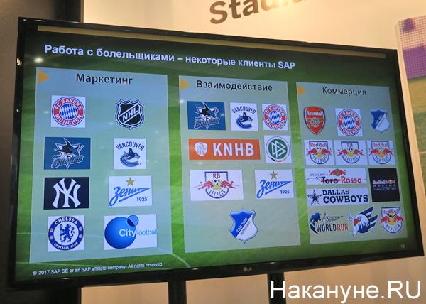 SAP, стенд, умный стадион Фото: Накануне.RU