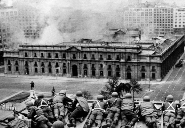 расстрел дворца Ла Монеда, Чили, 1973|Фото: