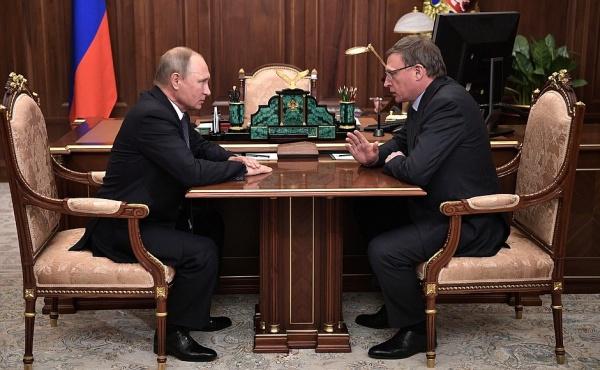 Владимир Путин, Александр Бурков|Фото: kremlin.ru