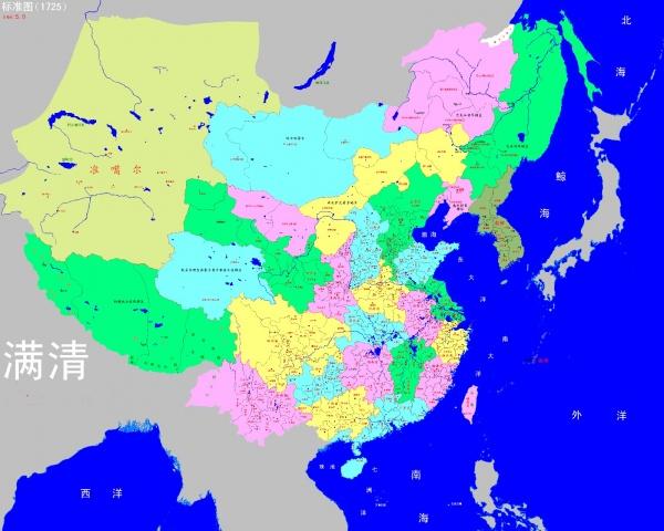 Китайская карта империи Цин, включающая территории Дальнего Востока РФ, Туву, земли среднеазиатских государств и Корею|Фото: zhidao.baidu.com