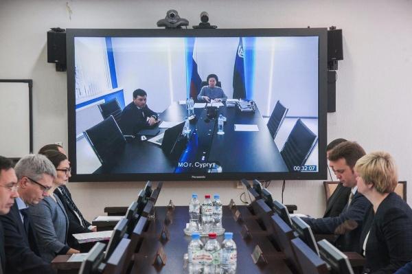 Наталья Комарова, совещание по Метеору|Фото: Пресс-центр Правительства Югры