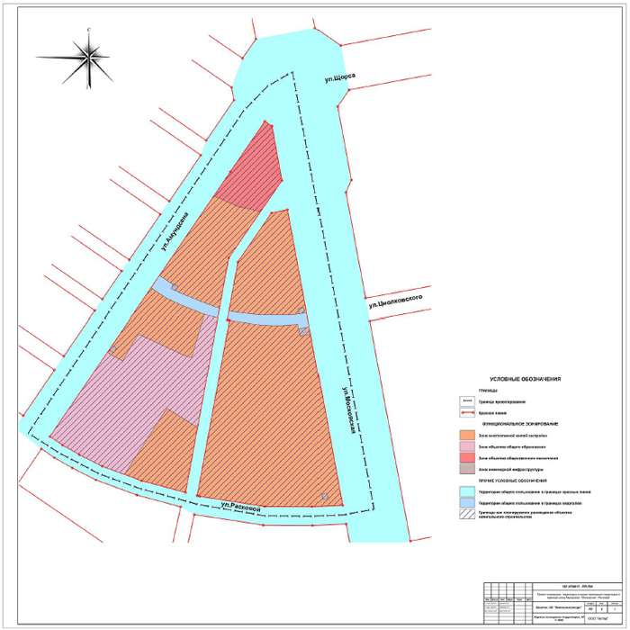 цыганский поселок, проект планировки Фото: документация проекта