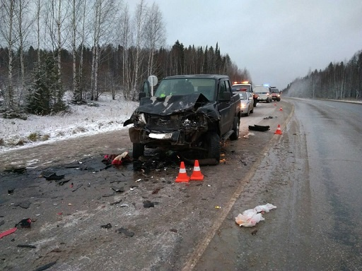 Авария на трассе Пермь - Березники (8.11.17)|Фото: gibdd.ru/r/59