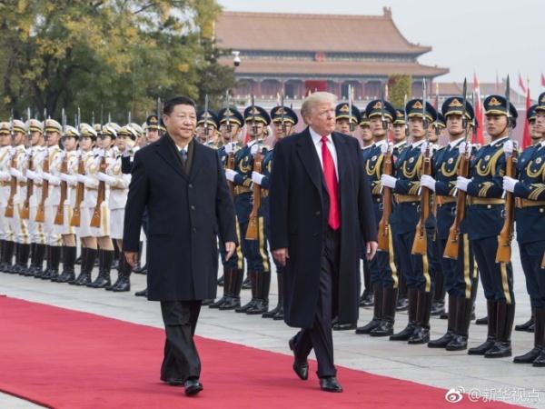 Си Цзиньпин провёл церемонию встречи американского президента на площади Тяньаньмэнь|Фото: http://news.xinhuanet.com