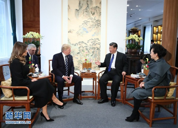 Председатель КНР устроил чайную церемонию для заокеанского гостя|Фото: www.news.cn