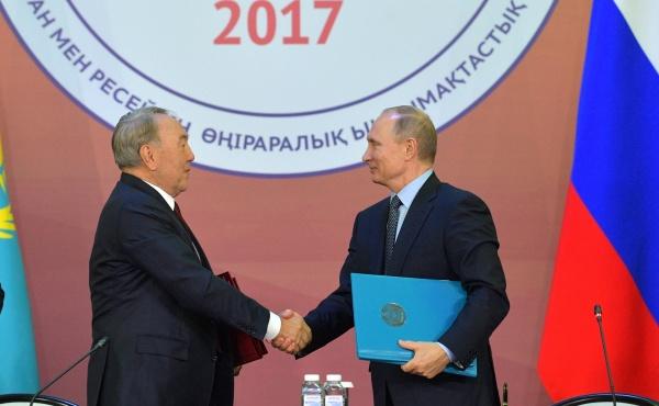 Форум межрегионального сотрудничества России и Казахстана, Путин, Назарбаев Фото: kremlin.ru
