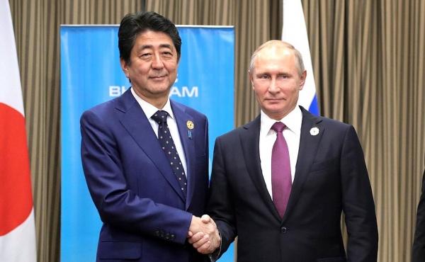 Владимир Путин Синдзо Абэ|Фото: пресс-служба президента России