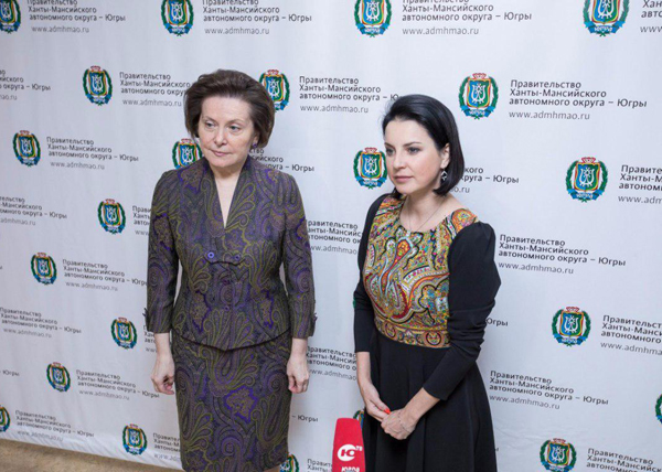 Наталья Комарова, Ирина Слуцкая|Фото: Пресс-центр Правительства Югры